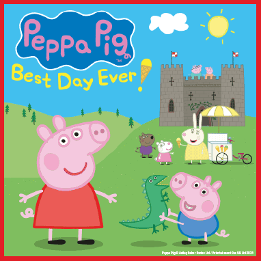 *Rescheduled from 25 & 26 March 2020. All tickets valid for new dates.Peppa Pig is excited to be going on a special day out with George, Mummy Pig and Daddy Pig - it's going to be her best day ever! Wednesday 20 & Thursday 21 January 2021