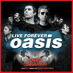 Sunday 4th July 2021Rescheduled from Friday 25th September 2020. All original tickets are valid for the new date.Ireland's Number One tribute band, Live Forever – Oasis.