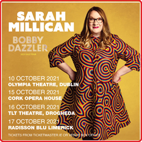 The hilarious Sarah Millican is back on tour with a Bobby Dazzler of a new stand-up show.Friday 15 October 2021