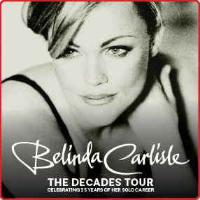 Belinda Carlisle returns to Ireland in Winter 2021 to mark 35 years as a solo artist
